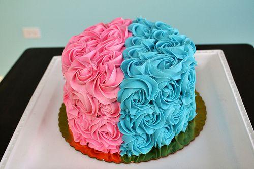 Gender Reveal Cake Lembrancinha Cha Revelacao Bolo Azul E Rosa