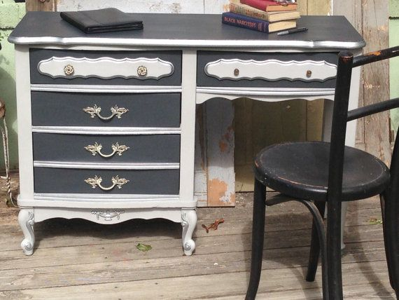 Small Desk French Provincial Style Painted By Vintagehipdecor