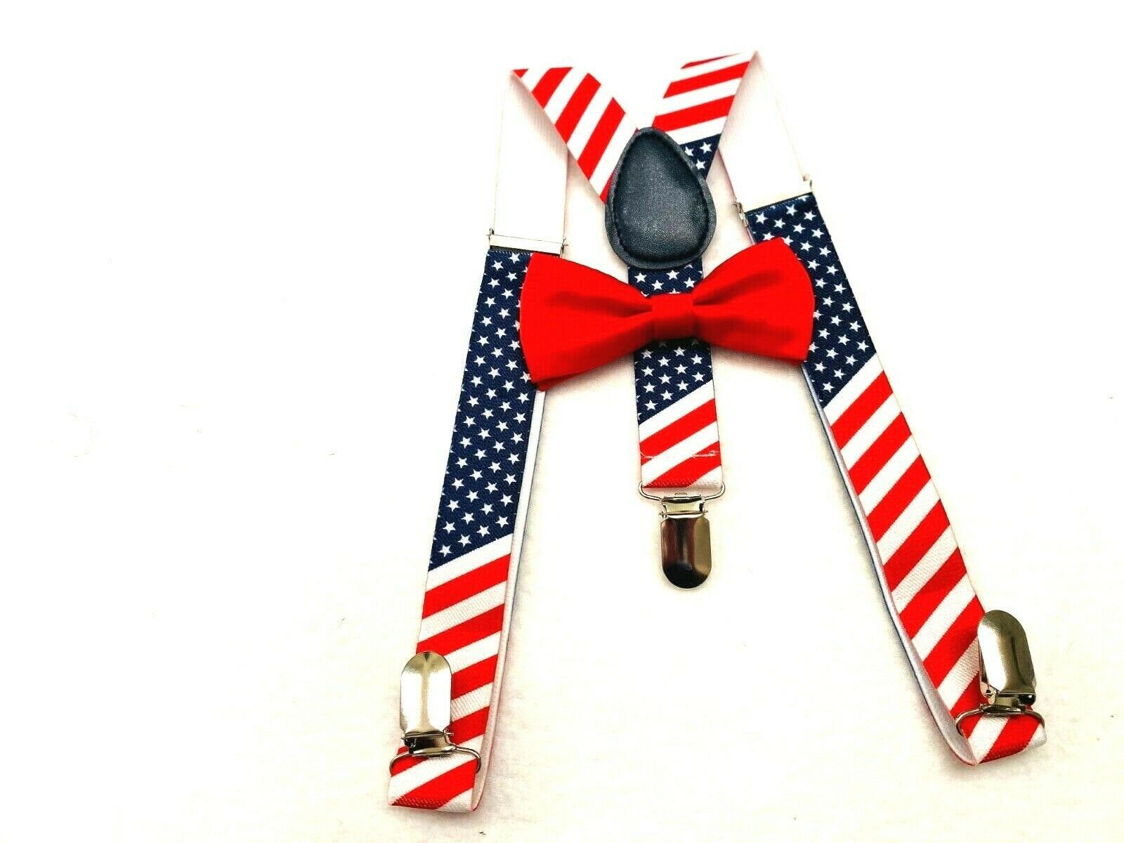 American Flag Bowtie Suspenders Toddler S Suspenders Usa Bow Tie Stars And Stripes Usa Flag In 2020 Boys Christmas Outfits Handmade American Flag Flag Outfit