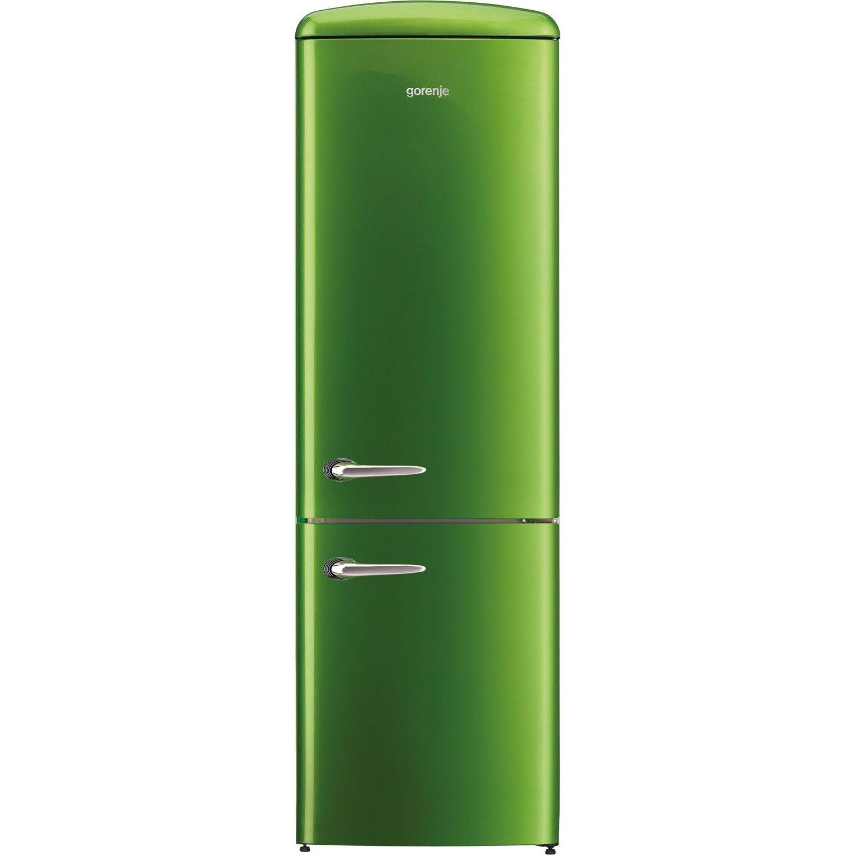 Lime Green Kitchen Appliances Gorenje Ork193gr 1887cm Retro Freestanding Lime Green Fridge