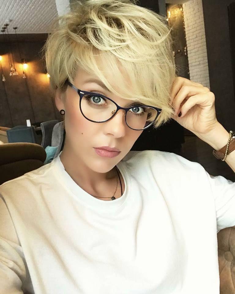 Frisur Und Brille Stylish Und Sexy 10 Trendige Kurzhaarfrisuren