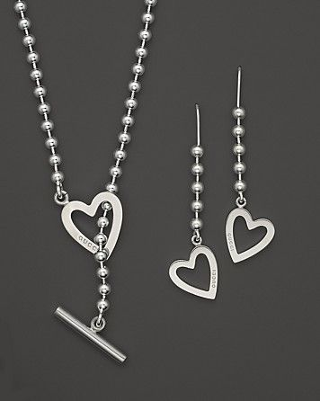 Gucci Exclusive Sterling Silver Toggle Heart Box Set   Bloomingdale's