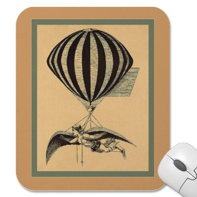 The Balloonist Mousepad by VintageFactory