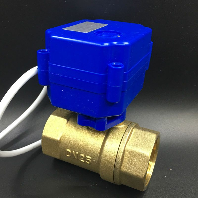 Brass Dn25 Electric Actuator Valve Two Port Bsp 1 Motorised Ball Valve Dc12v 2 3 5 Wires For Fan Coil Heati Electric Heating Systems Heating Systems Actuator