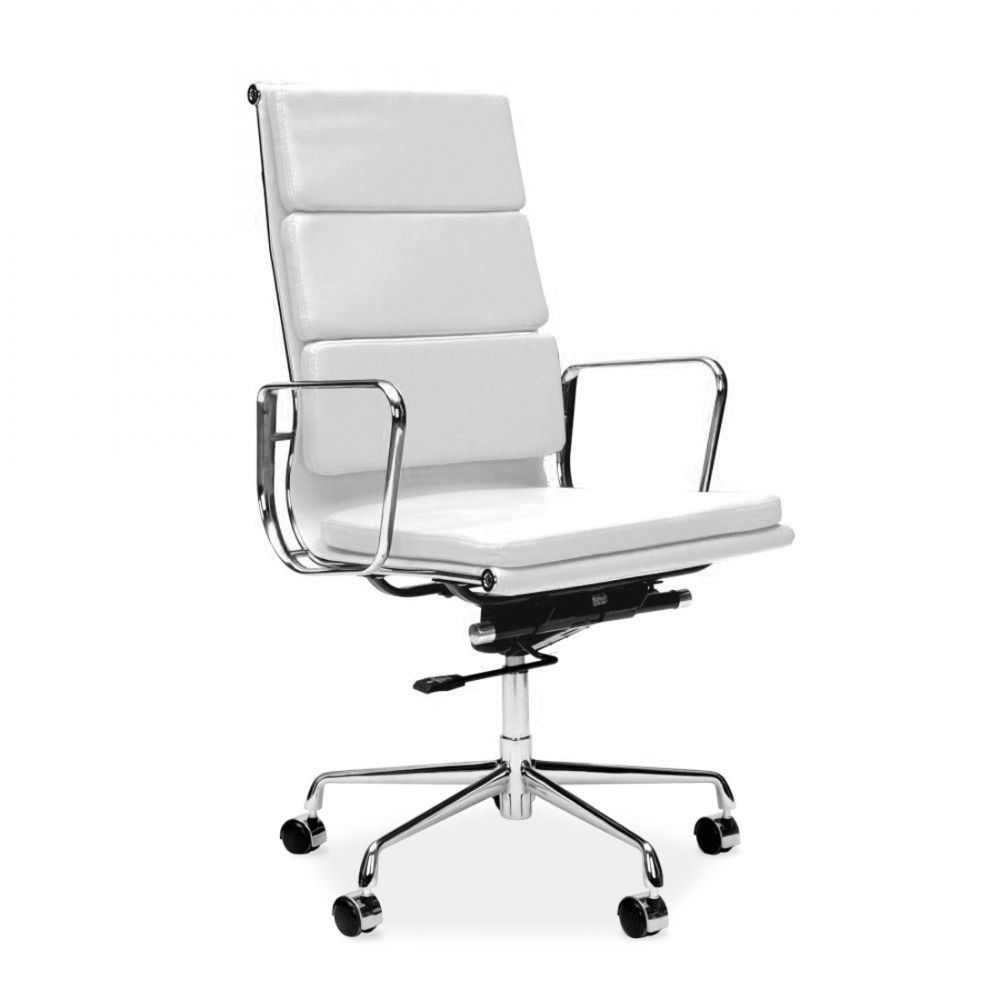 Charles eames style white soft pad executive office chair