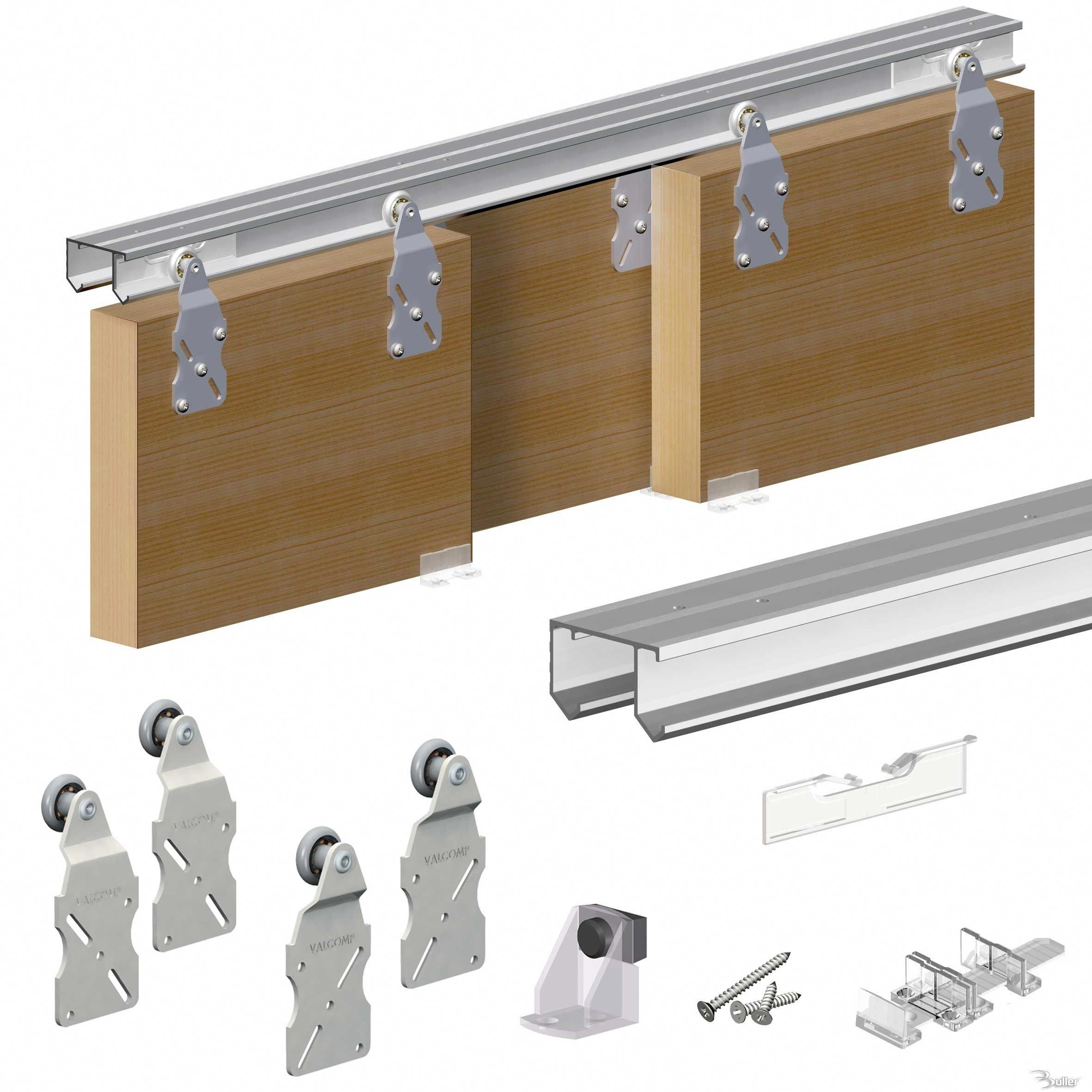 Pocket Door Slider Kit Sliding Closet Door Track Sliding Closet Doors Sliding Door Track