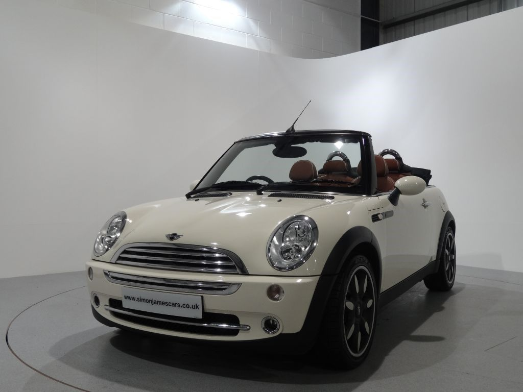 Mini Cooper Sidewalk 1 6 Convertible Finished In Pepper White With Malt Brown English Leather