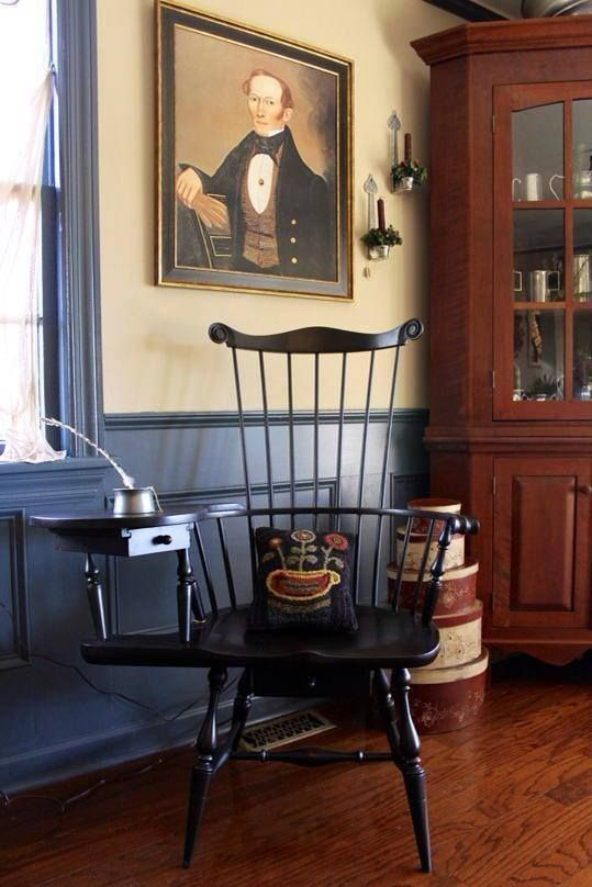 Writing Chair Colonial Style 2 Of Hiness Home Decor Furniture Early American Decorating