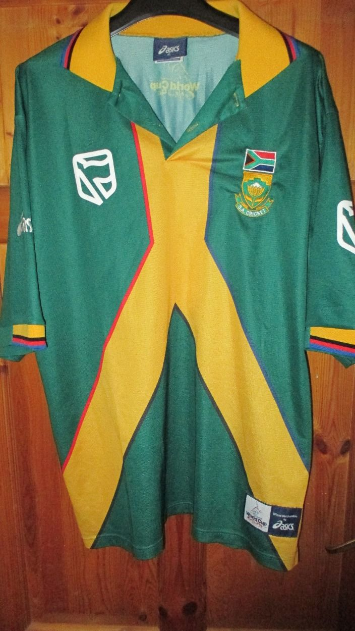 Asics South Africa World Cup 1999 Cricket Shirt Xl For 20 00 Shirts Mens Tops Mens Polo Shirts