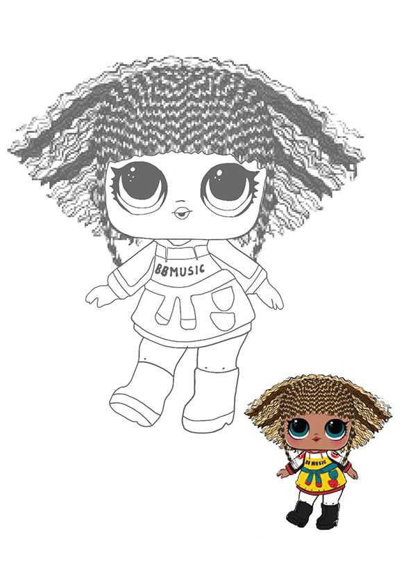Lol Surprise Hairvibes Rhymes Coloring Page Lol Dolls Coloring Pages Star Coloring Pages