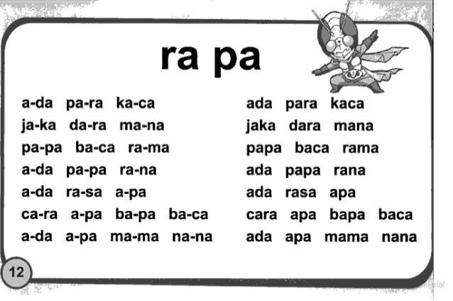 019 Belajar Membaca Tanpa Mengeja Buku 1 Oleh Intan Noviana Msi Www Kindergarten Reading Worksheets Homeschool Learning Learning Letters