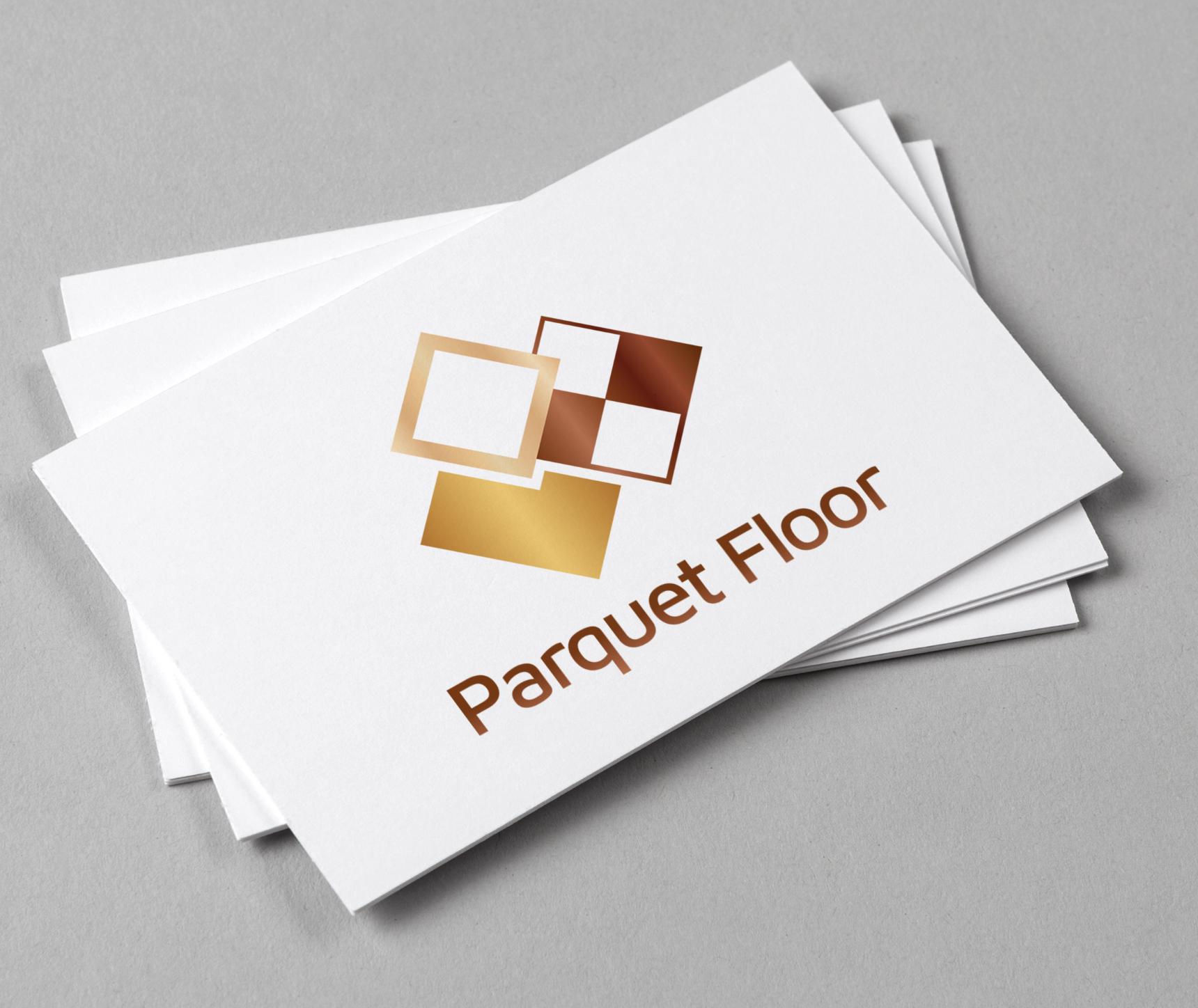 Parquet Flooring Logo Renovation Company Parquet Flooring Wooden Tile