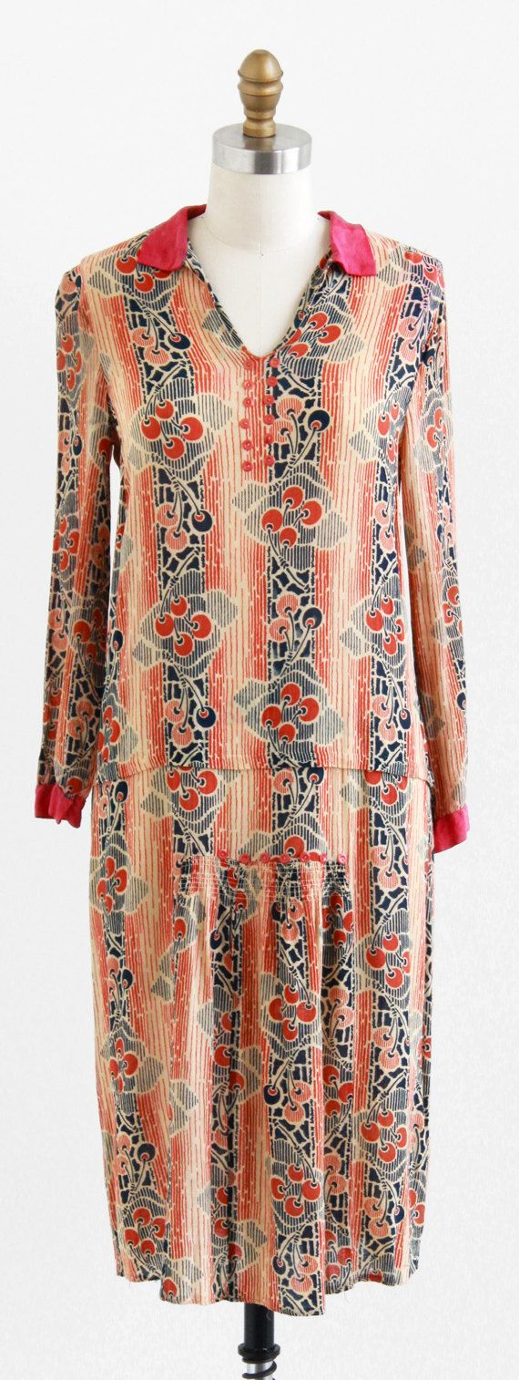 S cherry print dress food pinterest s flappers and
