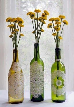 10 ideas para decorar botellas y frascos de vidrio - Botellas con velas ...