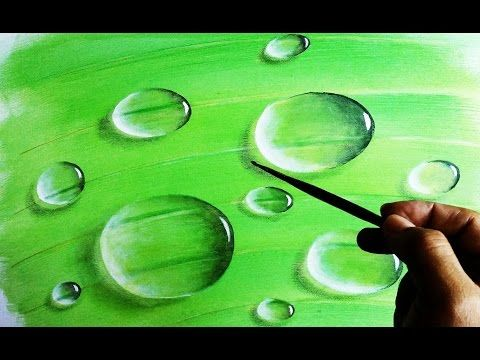 comment peindre une goutte d 39 eau youtube gttes d 39 eau. Black Bedroom Furniture Sets. Home Design Ideas
