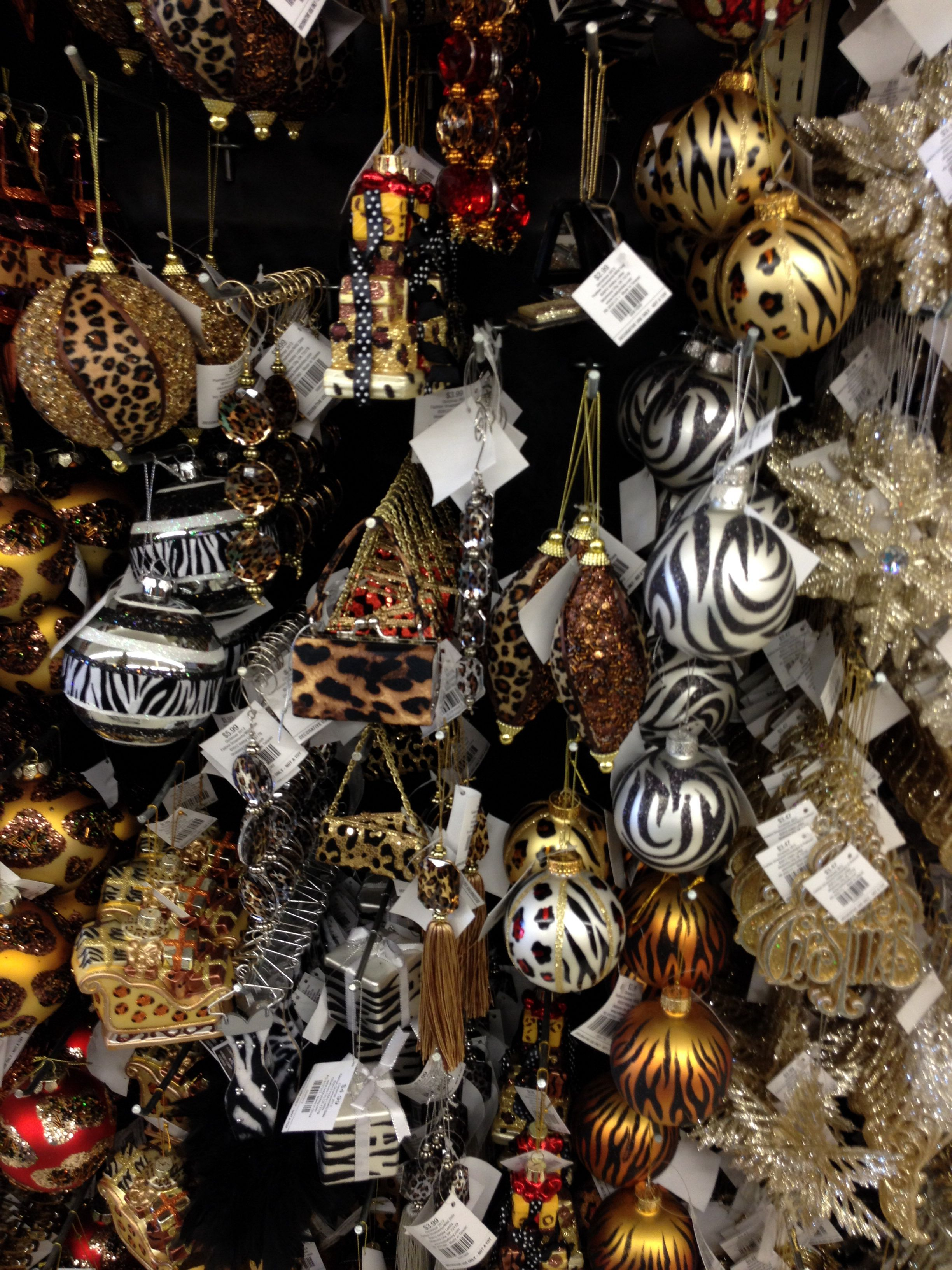 Animal prints ornaments at Hobby Lobby | Christmas time ...
