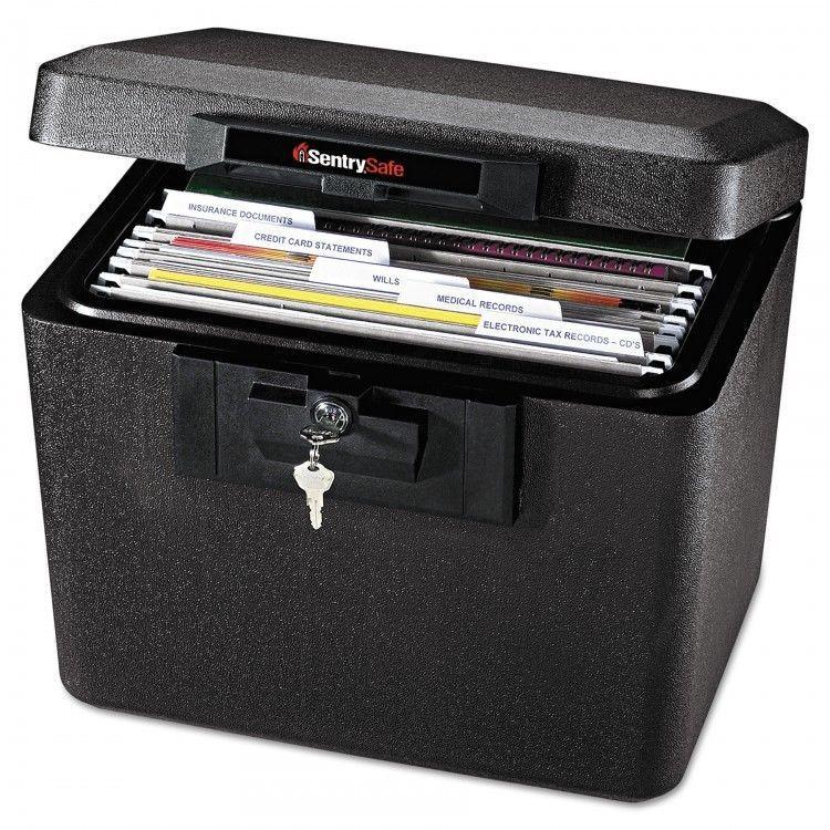 Lock Box Safe Fireproof Key Black Small File Organizer Lock