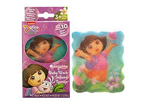 Dora the Explorer Body-Wash Infused Sponge 2 pack