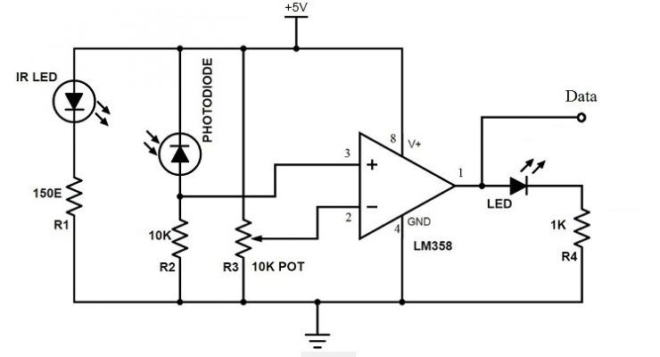 contactless digital tachometer using 8051 microcontroller rh pinterest com tachometer circuit diagram using arduino tachometer circuit diagram using microcontroller