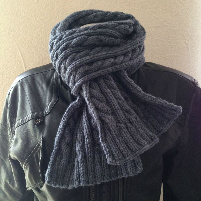 modele tricot echarpe irlandaise