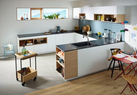 Kitchen inspiration Open floor-plan kitchens are still a rising - wasserhahn küche mit brause
