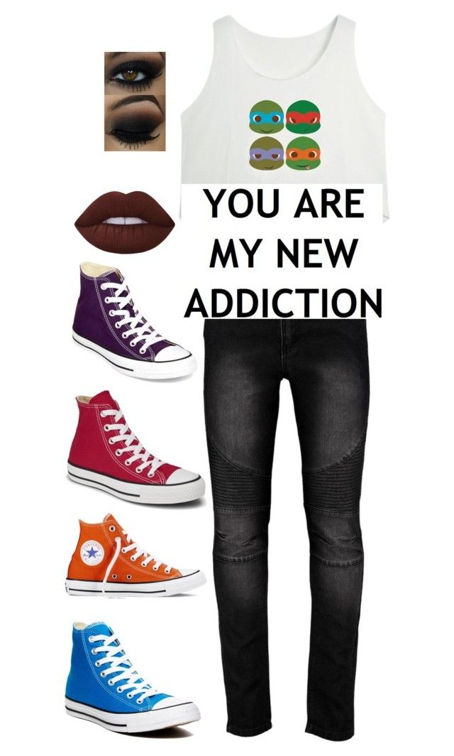 """""""Untitled #129"""" by choice-to-be ❤ liked on Polyvore featuring Converse and Lime Crime"""