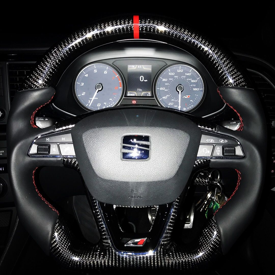 Seat Leon Cupra Custom Steering Wheel Now Fitted Fantastic Wheel