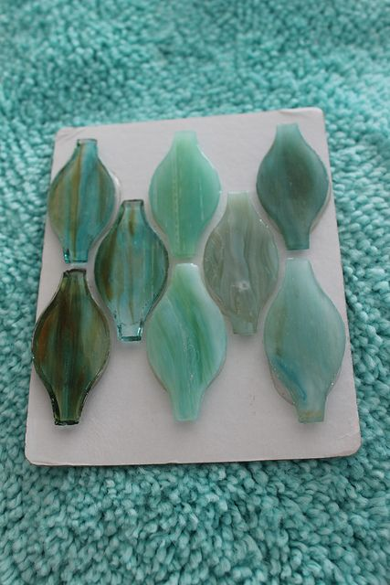 Beach House Glass Tile Backsplash. Sea Glass Inspired