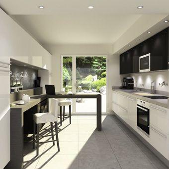 idée deco cuisine en longueur | normandie, kitchens and house