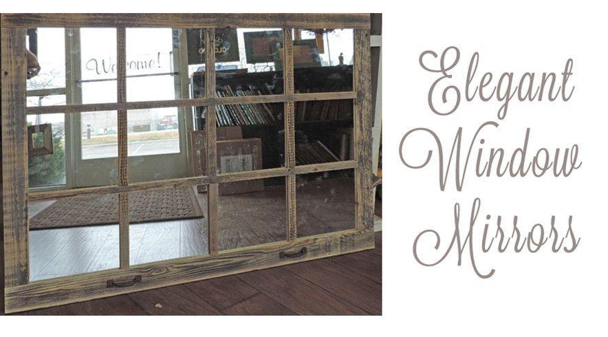 46 X 36 Homesteader Style 12 Pane Farmhouse Window Mirror Window Pane Mirror Rustic Window Window Mirror