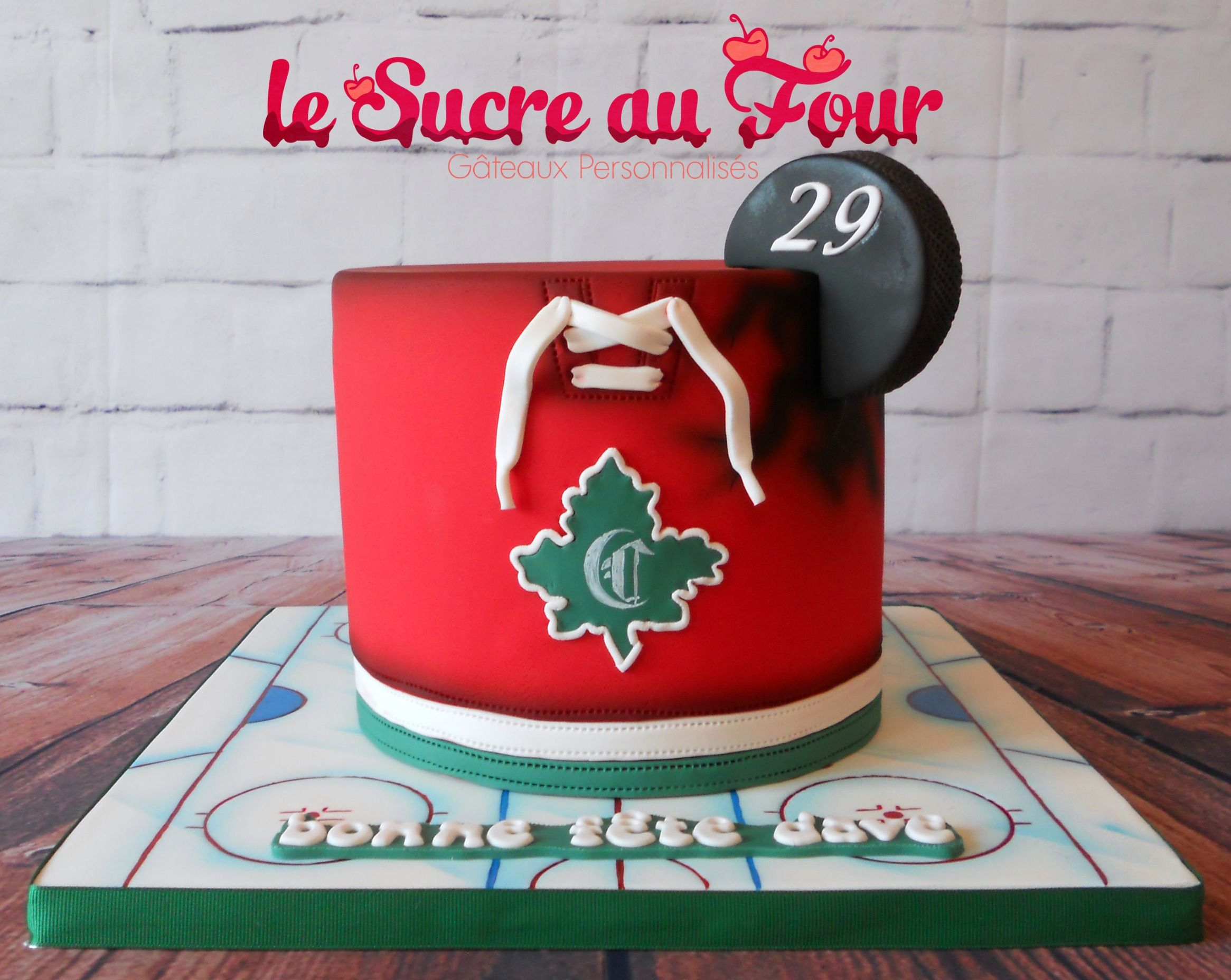 Montreal canadien hockey cake Cakes Pinterest Hockey cakes
