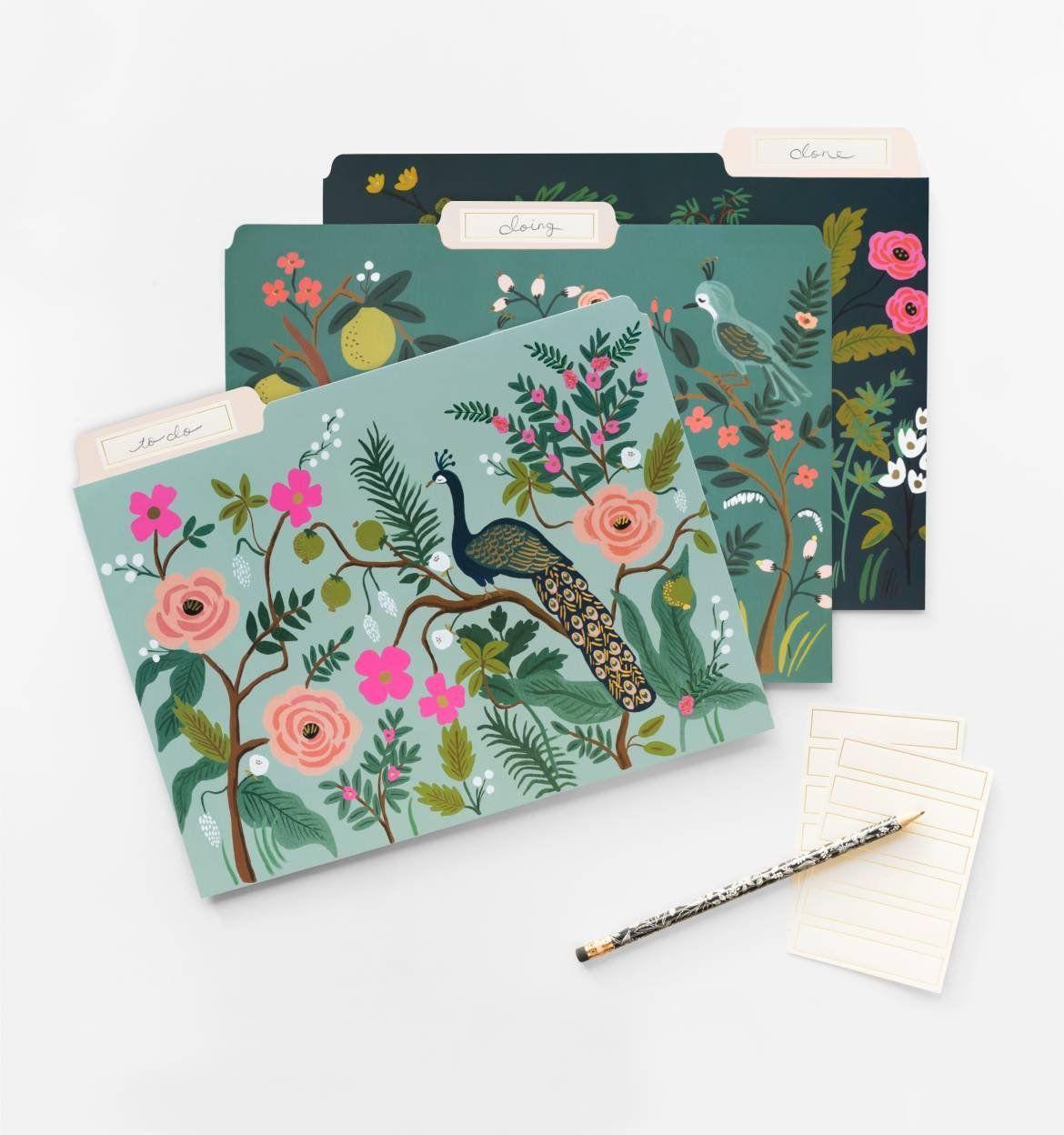Shanghai Garden Letter Sized File Folders Rifle Paper Co Оne Расk