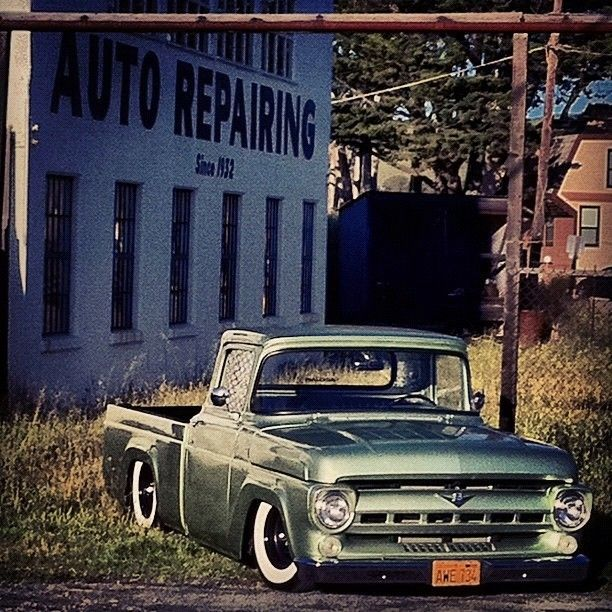 Accuairderek 1957 Ford F100 With Images Classic Ford Trucks Old Ford Trucks Ford Trucks