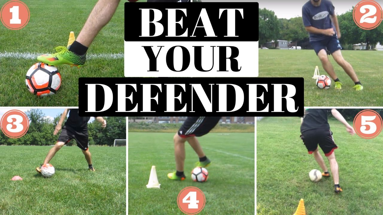 5 Best Soccer Moves To Get By A Defender Youtube Soccer Training Soccer Drills Soccer Dribbling Drills
