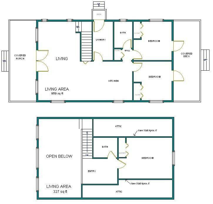 24x40 Arched Cabin Plans Loft Floor Plans Arched Cabin Loft Plan