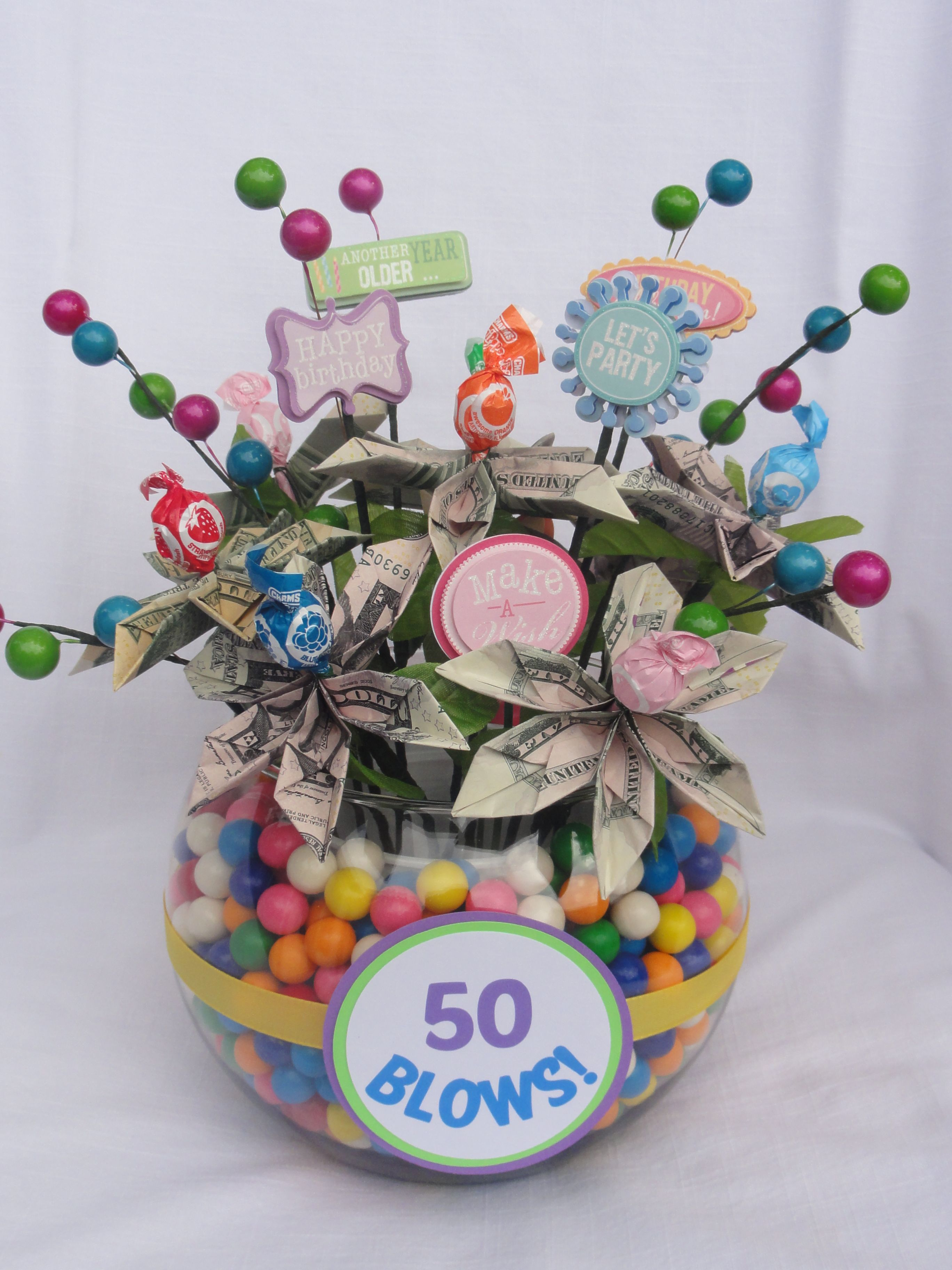 Money bouquet for my sisterinlaw's 50th birthday