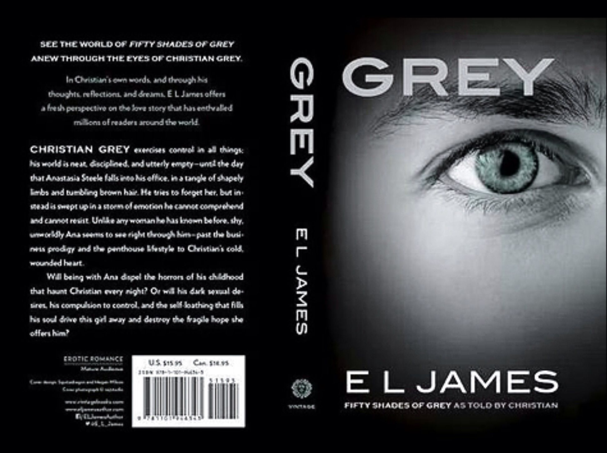 E L James Is Publishing Fifty Shades Of Grey From Christian Grey S
