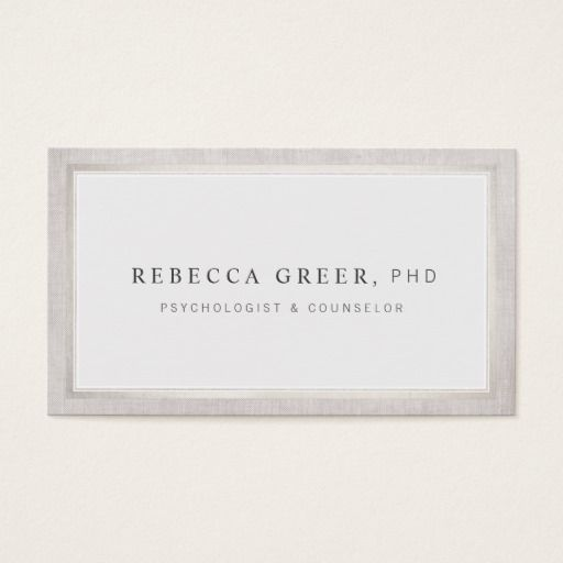 Elegant counselor and therapist light gray business card business elegant counselor and therapist light gray business card reheart Choice Image