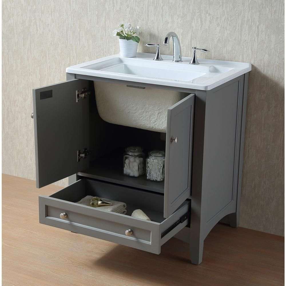 Stufurhome Manhattan 30 5 In X 22 In Acrylic Laundry Sink In