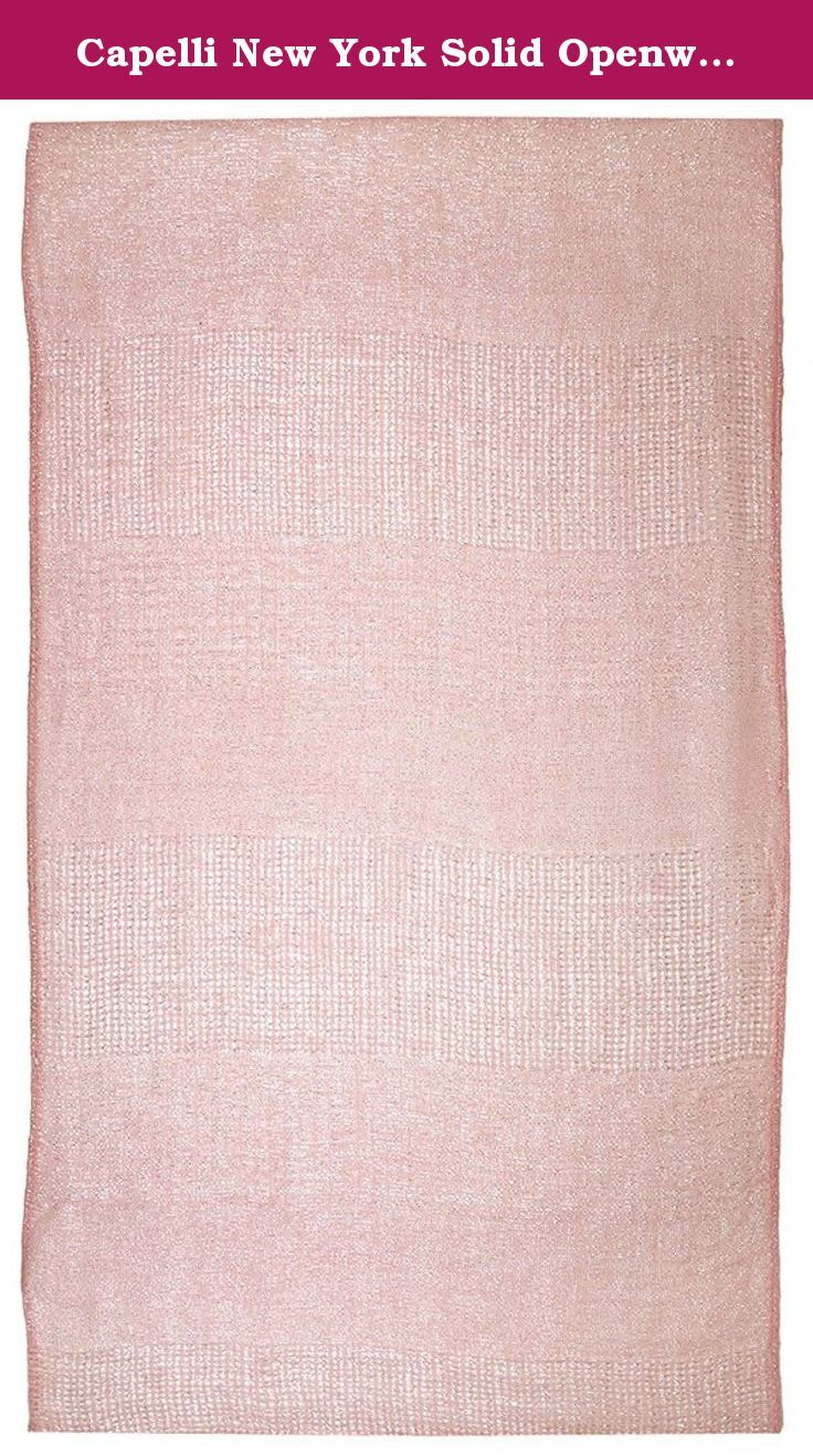 Capelli New York Solid Openweave Loop Scarf Light Pink One Size. Need the perfect accessory to make a dull t-shirt or sweater pop? Capelli New York line of fashion scarves is fun and versatile. Our line of infinity scarves will add a taste to any outfit!.