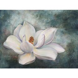 bedding with magnolias | Green Leaf Art Marianne Broome 'Magnolia' Canvas Art | Overstock.com