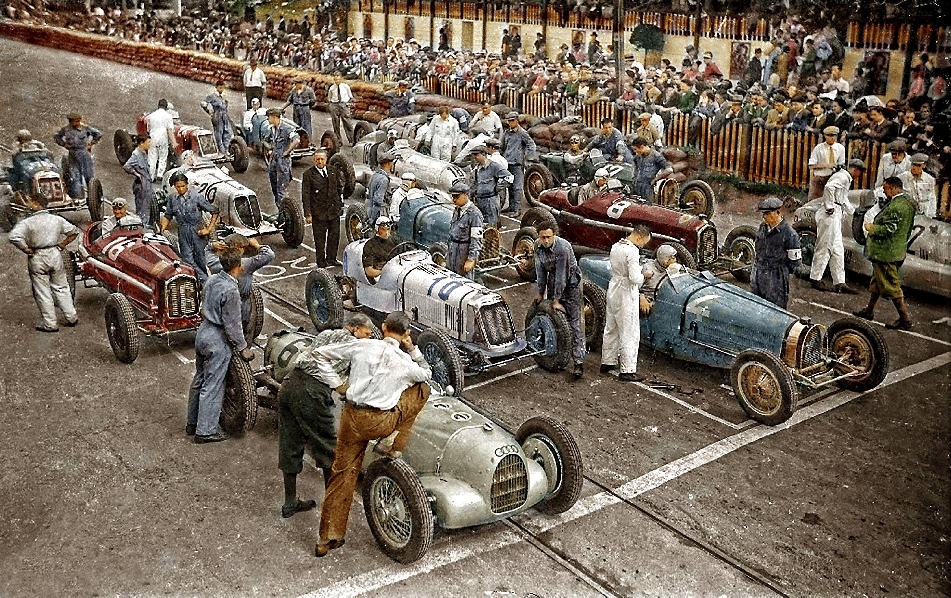1934 Lasarte Grid 1 2 Rudolf Caracciola Mercedes Benz W25 2 4
