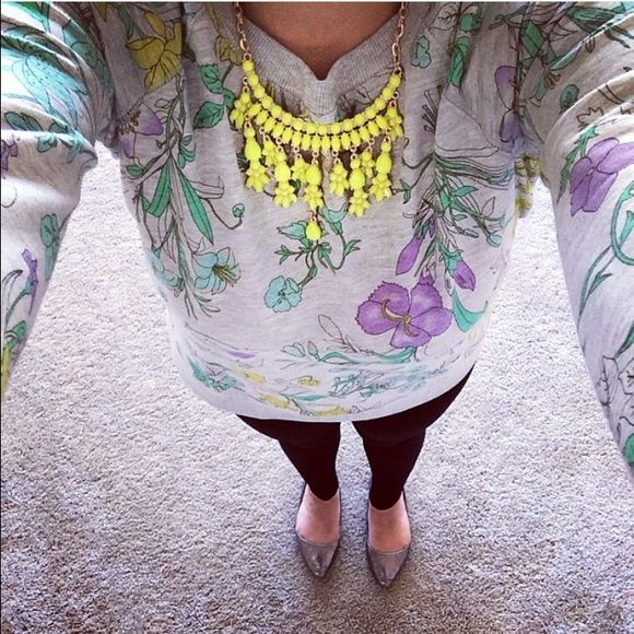 Yellow statement necklace Worn gently. Good condition Forever 21 Jewelry Necklaces