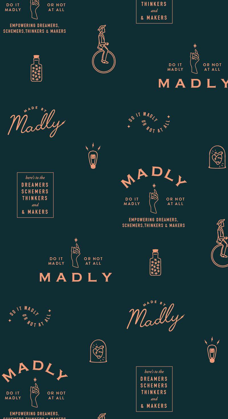 Madly branding pattern by Little Trailer Studio