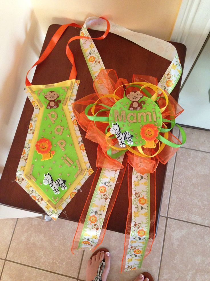 Jungle Baby Shower Corsage Mom And Dad Baby Shower Animalitos