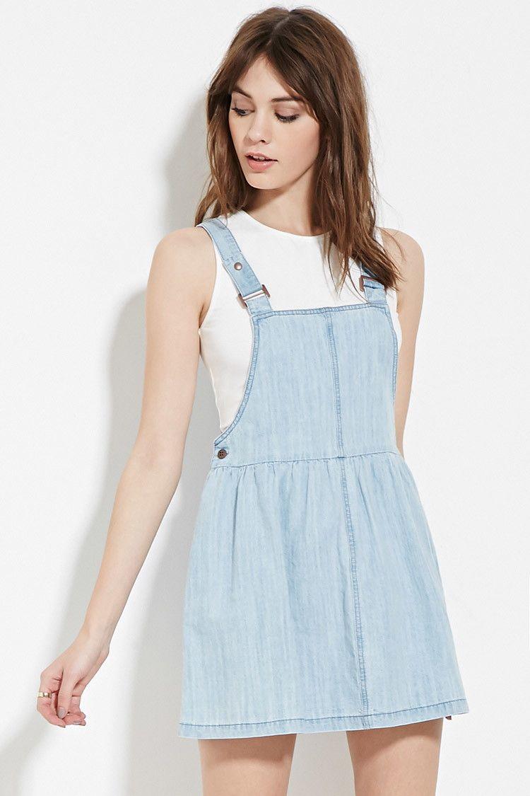 denim overall dress forever 21 2000167492 dresses
