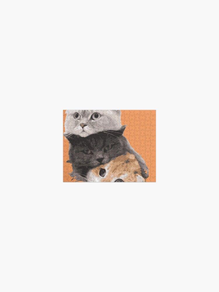 Puzzle «trois chats dans seule design», par Kary15 | Redbubble