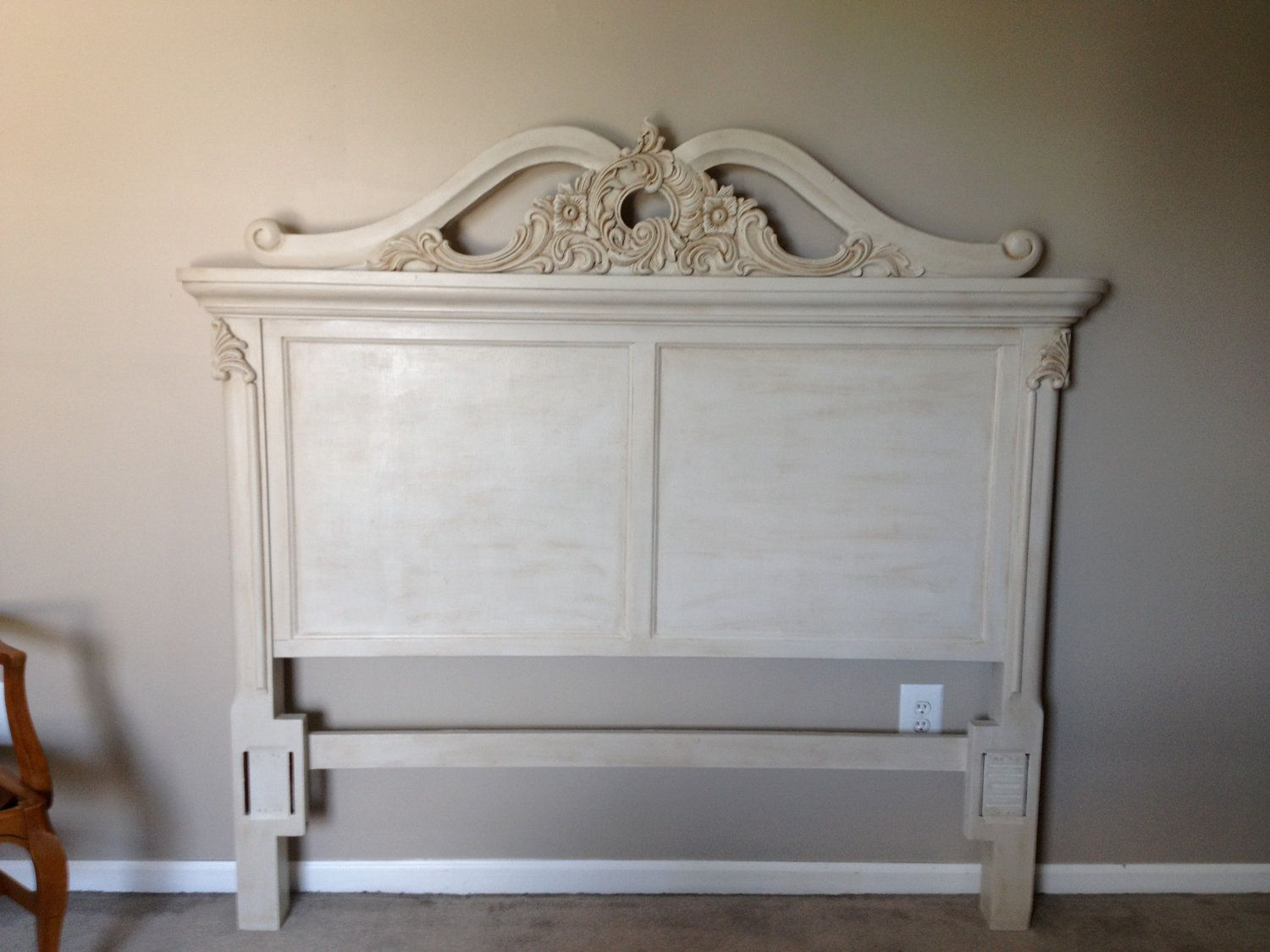 Annie sloan chalk painted headboard pinterest white for Painting a headboard