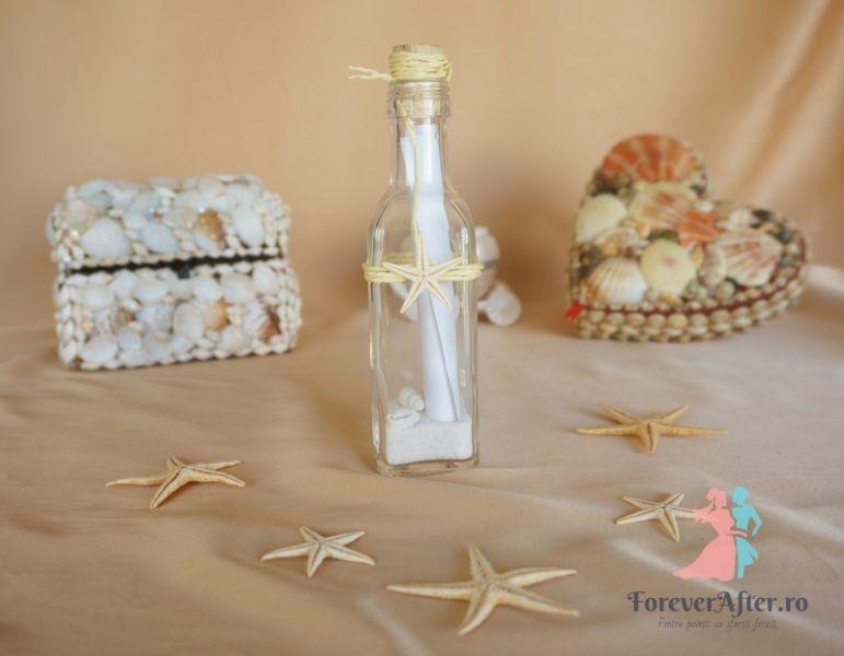 Invitatie In Sticla Cu Stelute De Mare Invitatii De Nunta