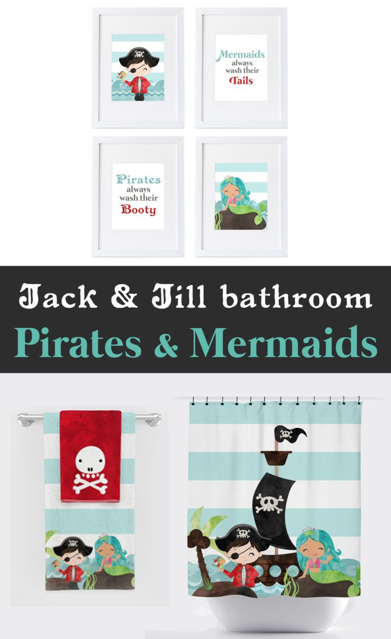 Pirates & Mermaids Bathroom Collection – Colorful Is Happy #mermaidbathroomdecor